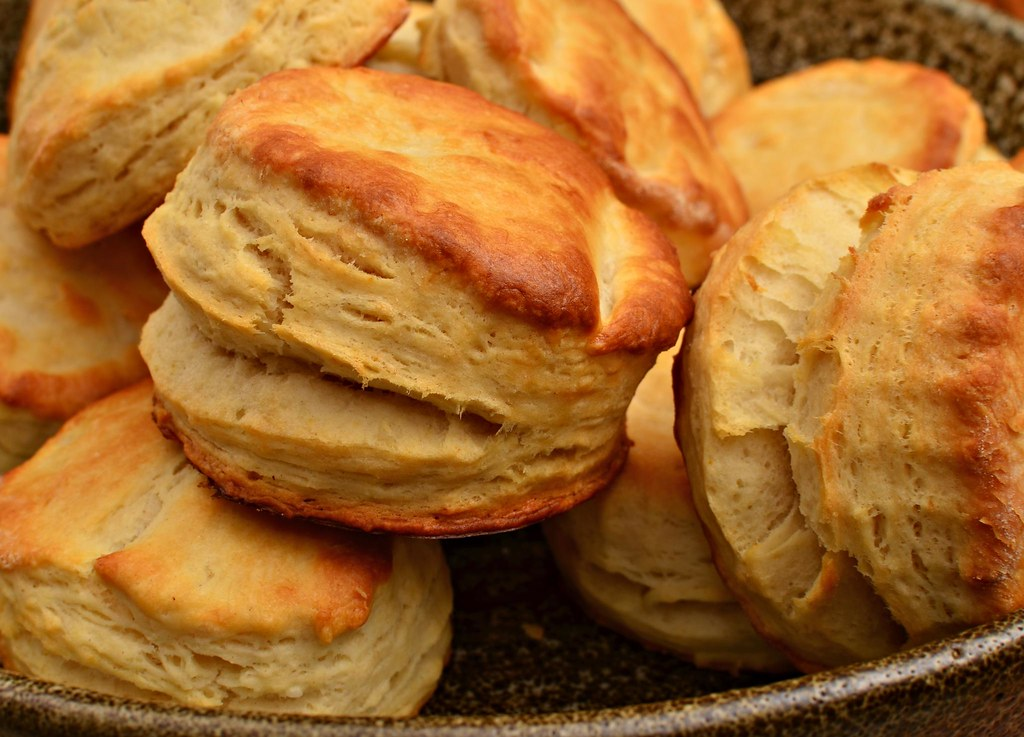 Deliciously buttery layered buttermilk biscuits