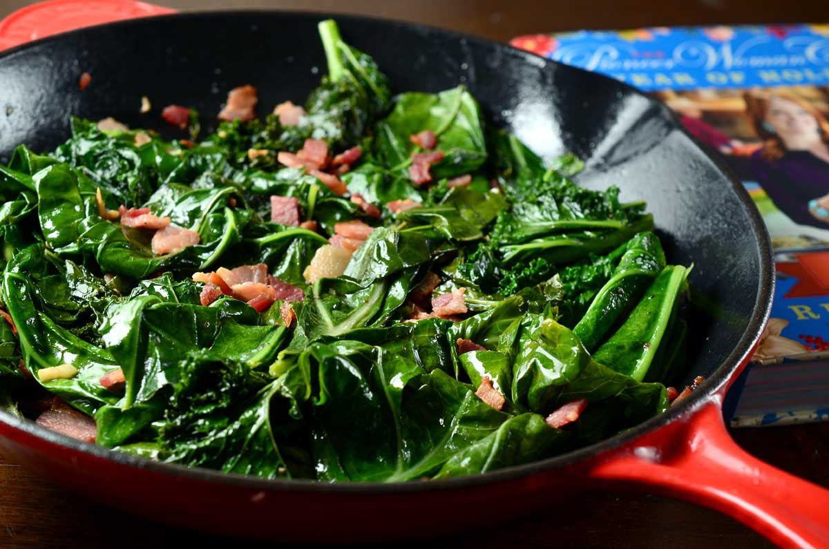 Image result for mustard greens with bacon